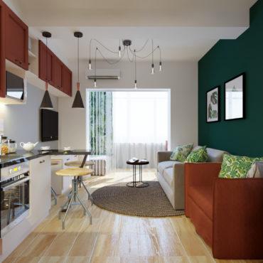 Мини-квартира с тропическими мотивами (1 of 9)