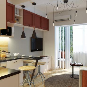 Мини-квартира с тропическими мотивами (3 of 9)